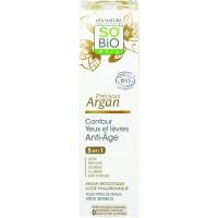 So Bio Κρέμα Ματιών/Χειλιων  με Αργκαν & Υαλουρονικό 15ml