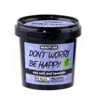 "Beauty Jar ""DON'T WORRY, BE HAPPY"" Χαλαρωτικά άλατα μπάνιου 200gr"