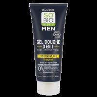 SO'BiO étic Men Shower Gel - Organic Ginger 3 in 1 - Energizing 200ml