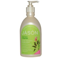 JASON Κρεμοσάπουνο Χεριών Με Ενυδατικό Μίγμα Βοτάνων Με Αντλία 480 ml