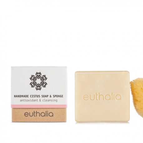Euthalia Handmade Cistus Soap& Sponge 80gr