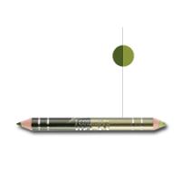 Helan  Διπλό Μολύβι Ματιών ( Σκια + Μολύβι) Χρώμα : Πράσινο σκούρο + Πράσινο ανοιχτό