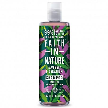 Faith in Nature Σαμπουάν Λεβάντα & Γεράνι 400ml / Για κανονικά ξηρά μαλλιά
