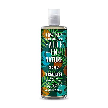 Faith in Nature Σαμπουάν Βιολογικό Έλαιο Καρύδας 400ml / Για κανονικά ξηρά μαλλιά