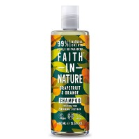 Faith in Nature Σαμπουάν Βιολογικό Γκρέιπφρουτ & Πορτοκάλι 400ml / Για κανονικά λιπαρά μαλλιά