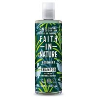 Faith in Nature Σαμπουάν Βιολογικό Δενδρολίβανο 400ml / Για κανονικά λιπαρά μαλλιά κατά της πιτυρίδας