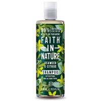 Faith in Nature Σαμπουάν Έλαια Κίτρων & Θαλάσσια Φυτά 400ml / Για όλους τους τύπους μαλλιών