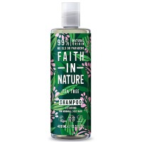 Faith in Nature Σαμπουάν με Έλαιο Τεϊόδενδρου 400ml / Για κανονικά λιπαρά μαλλιά κατά της ξηροδερμίας, πιτυρίδας και κνησμού